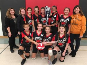 Corpus Christi Girls' Volleyball Team Places First In Their Local Tournament!
