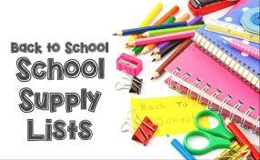 CCI School Supplies For September 2020